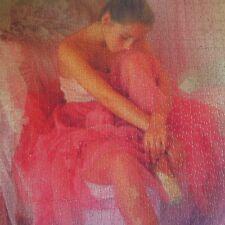 Puzzle Danseuse Dancer fait main art déco XXe IN 1968 Mirecourt Menton France