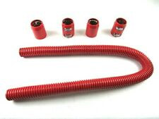 """48"""" Universal Chevy/Ford Stainless Steel Radiator Hose Kit Red BPK-6204R"""