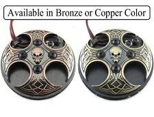 CROSS SKULL FOOT PEDAL Phono Plug Tattoo Power Supply Machine (Bronze or Copper)