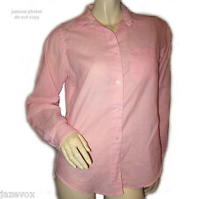 VINTAGE Womens Button Down Shirt Top 12 Long Sleeve Collar Light Pink Business