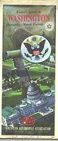 1976 AAA Washington, DC  Vintage Road Map