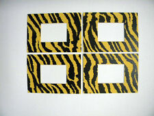 Picture Frame Mat 5x7 for 2.5x3.5 ACEO  photo set of four Tiger stripe