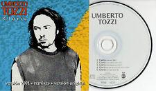 UMBERTO TOZZI CD single PROMO in SPAGNOLO Remixes 2001