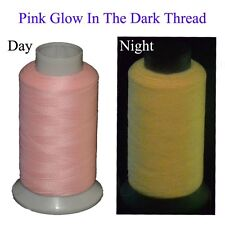 Pink Glow In The Dark Machine Embroidery Thread,Extra Glow Yarn, 3300Yards Spool