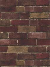 BG21586 Deep Red Brick Wallpaper