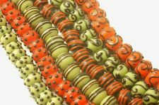 Lampwork glass Rondell Beads Mixed Lots (120) WHOLESALE