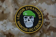 insigne militaire patch armée écusson Légion étrangère Marche ou Crève tête mort
