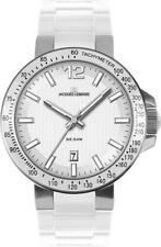 Jacques Lemans Uhr Milano 1-1695B Analog  Silikon Weiß