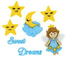 JESSE JAMES ~ DRESS IT UP BUTTONS - SWEET DREAMS 8296 ~ Bedtime Angel Moon Stars