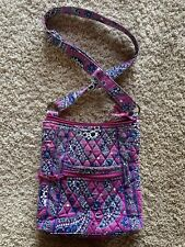 Vera Bradley Retired Boysenberry Cross Body Bag Purse Adjustable Purple Paisley