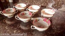 Royal Albert Dama Carlyle Tazón de sopa Set X 6 Rara