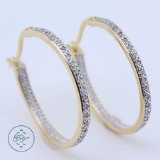 Sterling Silver | VICTORIA TOWNSEND Skinny DIAMOND 4.6g | Hoop Earrings