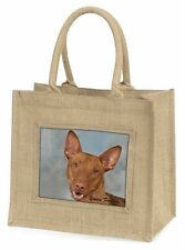 Pharaoh Hound 'Yours Forever' Large Natural Jute Shopping Bag Christ, AD-PH1yBLN
