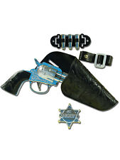 Wild Western Cowboy Child Holster & Gun Set One Size Boys Fancy Dress Accessory