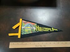 Vintage 1950s Felt Souvenir Pennant - Hollywood California Hollywood Bowl