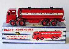 DINKY SUPERTOYS IN METALLO CAMION LEYLAND OCTOPUS TANKER ESSO ROSSO   ART 943