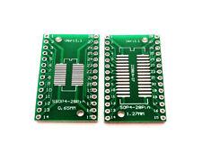 10 Stück SOP28 SSOP28 SO28 SOIC28 Adapterplatine DIP 0,65mm und 1,27mm Pitch