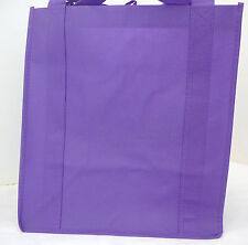 Heavy Duty Medium Size Reusable GROCERY BAG - PURPLE - Shopping Tote