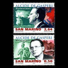 San Marino 2011 - 130th Anniv of the Birth of Alcide de Gasperi - Sc 1854/5 MNH