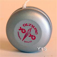 Vintage Collectible Natinal Olympic Wooden Yo-Yo - Silver