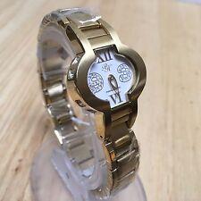 Unused PH By Paris Hilton Lady Gold Tone Rhinestone Quartz Watch Hour~New Batter