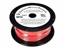 16 Gauge Tinned Marine Primary Wire / Red / 50 Foot Reel