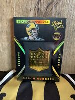 2015 Panini Black Gold Aaron Rodgers 1/1 Nfl Gold Shield MVP Packers FHOF