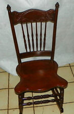 Solid Cherry Carved Sewing Rocker / Rocking Chair  (BM-R233)