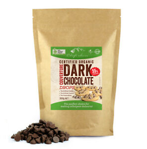 Chef's Choice Certified Organic Dark Chocolate Couverture Drops 55% Cacao 300g