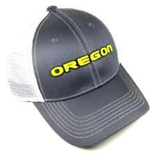 Oregon Ducks Snapback Hat Adjustable Gray Mesh Cap NCAA