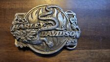 Design made by Bergamot in Usa Vintage Harley Davidson Belt Buckle Siskiyou