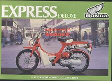 Genuine Honda-UK NC50 Express Deluxe 1980-on Dealership Sales Brochure NC 50 NOS