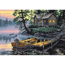Dimensions 65091 Gold Petite Morning Lake Counted Cross Stitch Kit