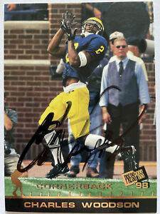 Charles Woodson Signed 1998 Press Pass #3