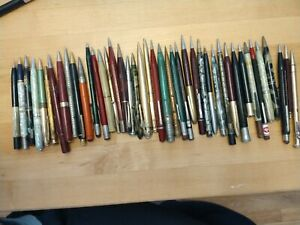 Vintage lot of 40 mechanical pencils vary incl 14kt gold plated