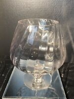 Mid-Century Large Brandy Snifter Vase/Clear Glass Pedestal Display Bowl