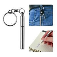Mini Stainless Steel  Metal Key Ring Telescopic Pen keyring telescoping Pen Tool