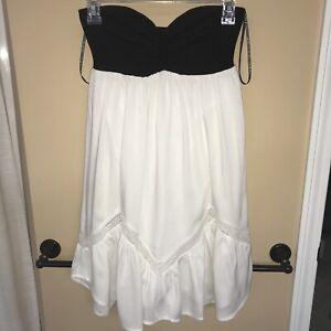 volcom womens Deep Whisper strapless black and white dress US SP
