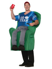 Mens USA Super Bowl Football Mascot Armchair Quarterback Fancy Dress Costume New
