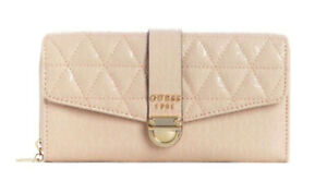 GUESS Tabbi Large Clutch Organizer Pink, Ladies Purse Briefcase Wallet