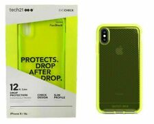 Tech21 Evo Check Case Cover for Apple iPhone X iPhone XS Neon Yellow
