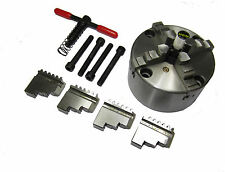 RDGTOOLS 125MM 4 JAW SELF CENTERING LATHE CHUCK INT / EXTERNAL JAWS FRONT MOUNT