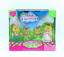 Sylvanian Families Calico Critters Furbanks Squirrel Family - with box