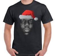 Xmas The Notorious B.I.G. Biggie Smalls Mens Funny T-Shirt Big Hip-Hop Santa