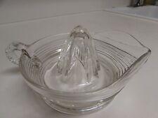 """Vintage Large Art Deco  Glass Lemon Juicer or Reamer 8"""" No Defects"""