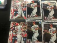 Mike Trout Angels (12) Card Lot Topps , Bowman chrome
