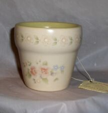 Pfaltzgraff  Tea Rose Flower Pot Votive Candle (Pastel Green) by Crazy Mountain