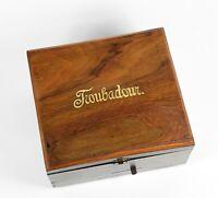 Polyphon Spieluhr Troubadour m. Blechplatte Stille Nacht heilige Nacht music box