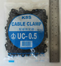 100 P Clip 5mm Cable Clamps Black Nylon holds up wire conduit split loom KSS