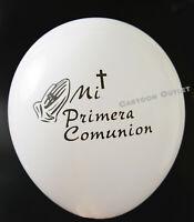 12 PRIMERA COMUNION GLOBOS PARTY FAVOR DECORATION WHITE FIRST COMMUNION BALLOONS
